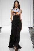 Длинное платье с цветным верхом и черной юбкой Christian Dior