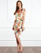 Атласное платье с цветочным рисунком Coast