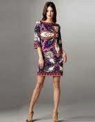 Фиолетовое платье с цветочным рисунком Emilio Pucci