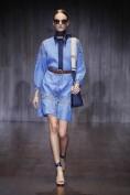 Джинсовое платье с длинным рукавом Gucci
