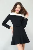 Черное платье с длинным рукавом Valentino