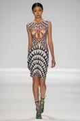 Летнее платье с эксклюзивным рисунком Escada