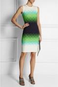 Обтягивающее платье с эксклюзивным рисунком в виде цветных волн Roberto Cavalli