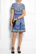 Голубое платье с этническим принтом Roberto Cavalli