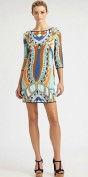 Цветное платье с глубоким вырезом на спинке Emilio Pucci