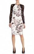 Утонченное платье с кружевной спинкой и рукавами Asos