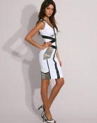 Белое платье с молнией Asos