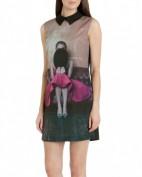 Стильное платье с необычным принтом Dolce and Gabbana