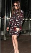 Шелковое платье с оригинальным принтом Victoria Beckham