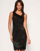 Черное платье с полупрозрачными вставками Asos