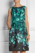 Бирюзовое платье с расклешенной юбкой Roberto Cavalli