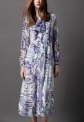Шелковое платье с рисунком в пастельных тонах Burberry