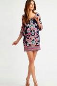 Легкое платье с розовым этническим принтом Emilio Pucci