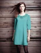 Изумрудное платье украшенное кристаллами Kate Spade