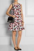 Романтичное платье в красный цветочек Moschino