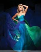Вечернее платье в лазурных тонах Jovani