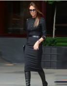 Черное платье в стиле милитари Victoria Beckham
