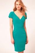 Элегантное повседневное бирюзовое платье Asos