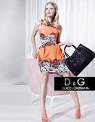 Оранжевое повседневное платье Dolce and Gabbana