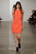 Оранжевое повседневное платье необычного кроя Calvin Klein
