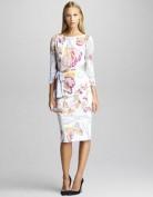 Легкий принт из бабочек на белоснежном платье Emilio Pucci