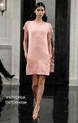 Красивое розовое платье с молнией на спинке Victoria Beckham