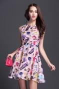 Романтичное розовое шелковое платье с принтом Christian Dior