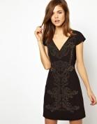 Платье с роскошным орнаментом из металлических клепочек Asos