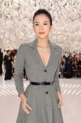 Теплое серое платье из шерсти Christian Dior