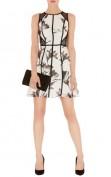 Легкое шелковое черно-белое платье Asos