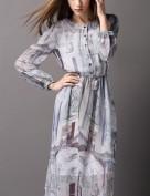 Женственное шелковое платье с длинным рукавом Burberry