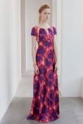 Длинное шелковое розовое платье Barbara Tfank