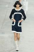 Черное шерстяное платье с кармашками Chanel