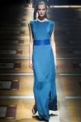 Длинное синее платье с широким поясом Calvin Klein