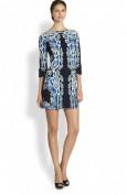 Красивое синее платье с вырезом-лодочкой Emilio Pucci