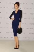 Удлиненное синее трикотажное платье Victoria Beckham