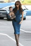 Повседневное синее трикотажное платье Victoria Beckham