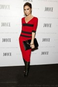 Повседневное трикотажное красное платье Victoria Beckham