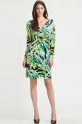 Зеленое трикотажное платье с длинным рукавом Emilio Pucci