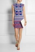 Облегающее трикотажное платье в клеточку Roberto Cavalli