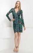 Зеленое трикотажное платье в обтяжку Emilio Pucci