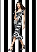 Сарафан в черно-белую полоску Dolce and Gabbana