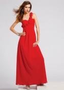 Красное вечернее платье из шелка BCBG MaxAzria
