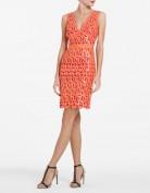 Оранжевое вечернее платье расшитое паетками BCBG MaxAzria