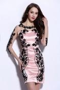 Розовое вечернее платье с черной вышивкой Christian Dior