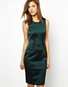 Стильное зеленое атласное платье Asos