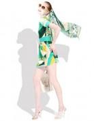 Летнее зеленое платье с геометрическим рисунком Emilio Pucci