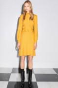 Красивое желтое платье с длинными рукавами Gucci
