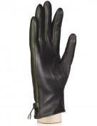 Перчатки женские (шерсть и кашемир) TOUCH HP02920 black/d.green (Eleganzza)