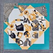 Платок женские шелк 53х53 B03-14101-11 (Eleganzza)